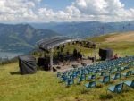 Der Konzertsaal hoch auf den Bergen