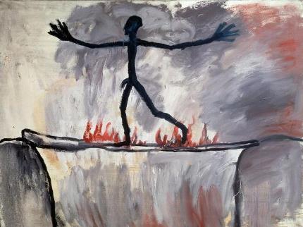 "opyright: A. R. Penck ""Der Übergang"", 1963"